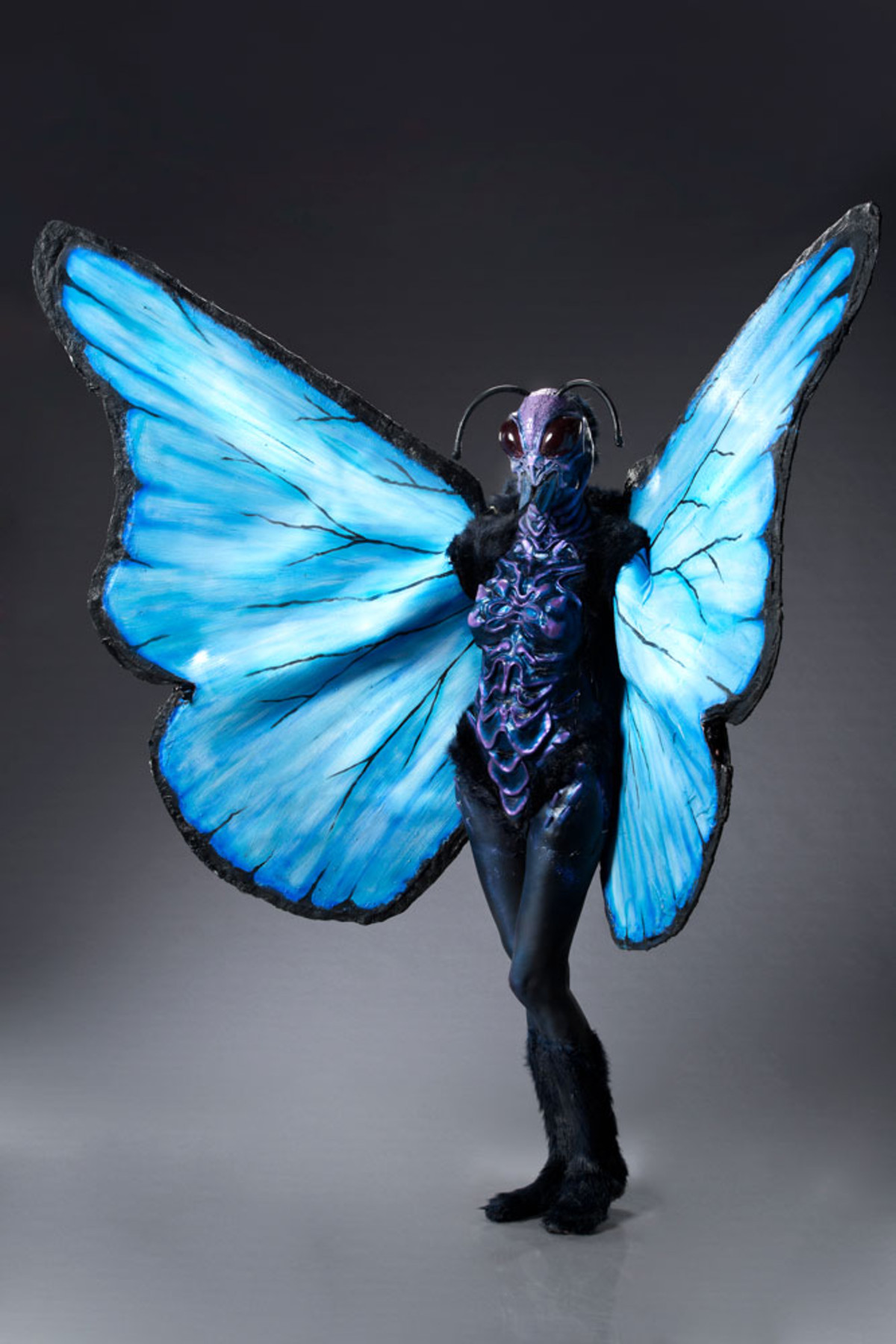 Miranda as a butterfly on Face Off
